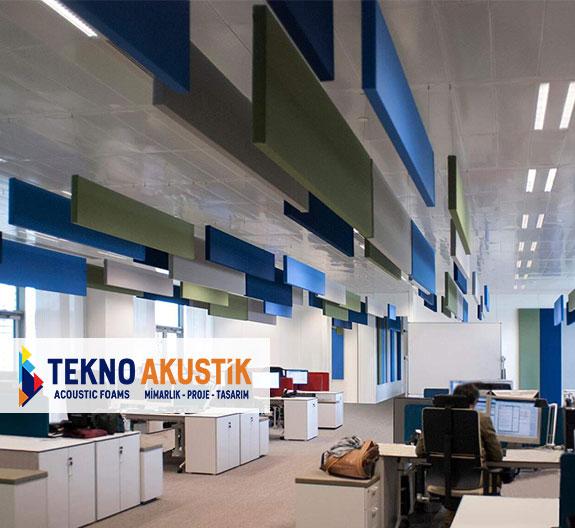 açık ofis akustik ses yalıtımı malzemeleri