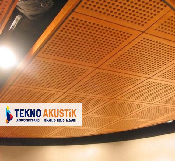 akustik ahşap delikli paneller
