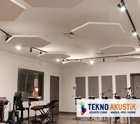 akustik altıgen tavan paneli