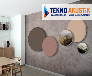 akustik daire kumaş kaplı panel