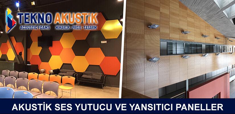 akustik ses yutucu ve yansıtıcı yalıtım panelleri ofis akustiği kaplama