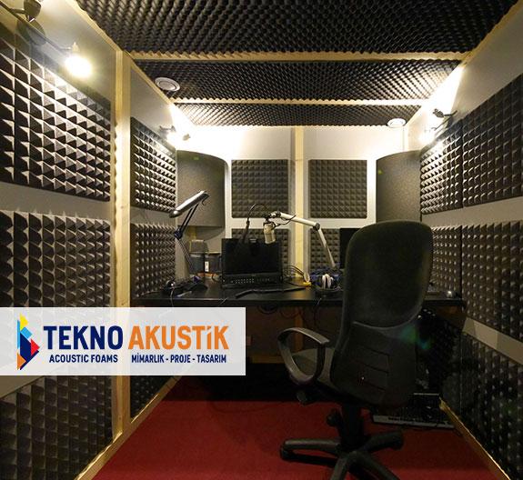 akustik stüdyo odası ses kayıt odaları