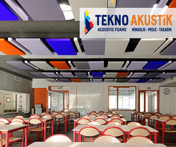 akustik yüzer tavan paneli canopy