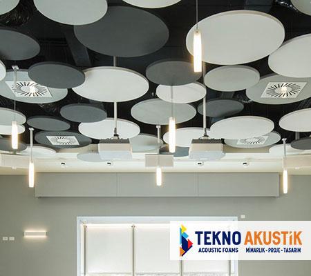 daire akustik yüzer tavan paneli