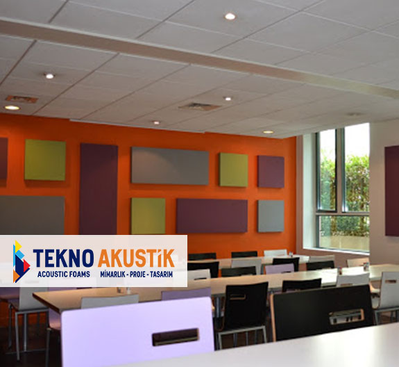 kumaş kaplı akustik duvar paneli