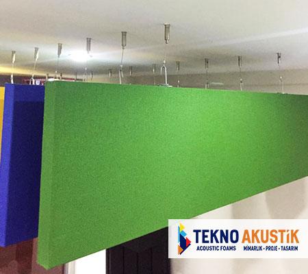 kumaş kaplı tavan paneli baffle