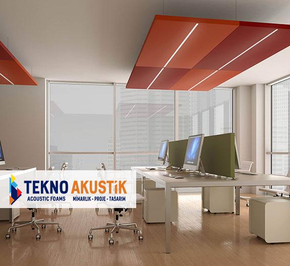 ledli akustik sarkıt tavan panelleri