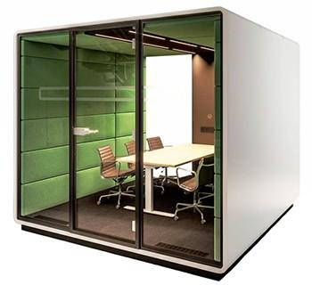 ofis akustiği ürünleri toplantı modülü kabinet
