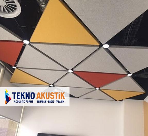üçgen akustik tavan paneli