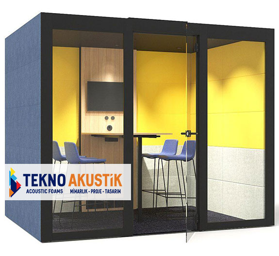 akustik toplantı odası modülü kabini