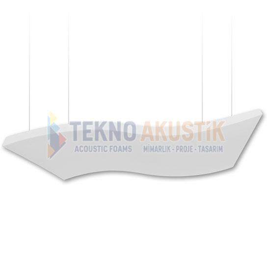 basotect dalgalı akustik yüzer tavan paneli